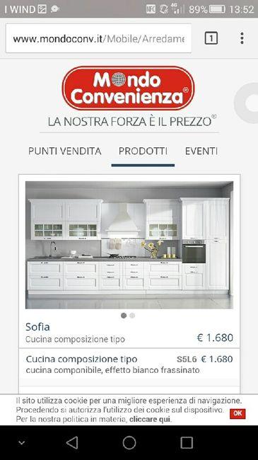 Abbinamento cucina e salotto - 1