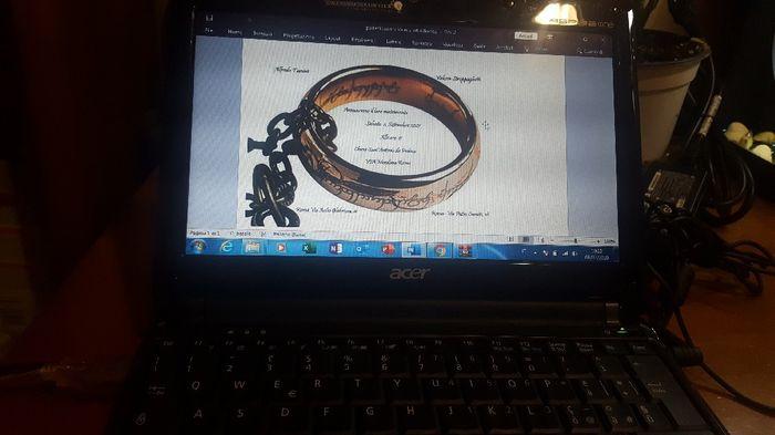 Partecipazioni a tema Tolkien fai da te 3