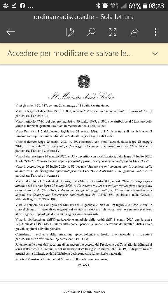 Nuova ordinanza ministro speranza sposa del 29.8.20 - 1
