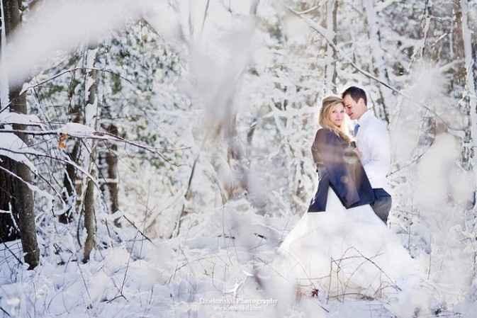 coppia nella neve