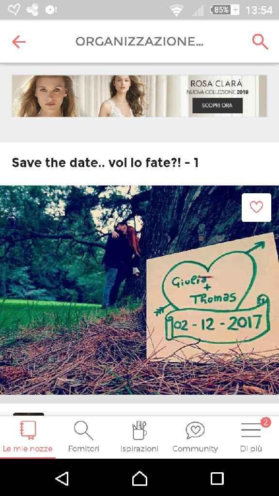 Sondaggio: Save the date: si o no? - 1