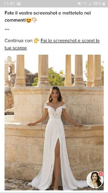 Fai lo screenshot e scopri il tuo abito da sposa 30