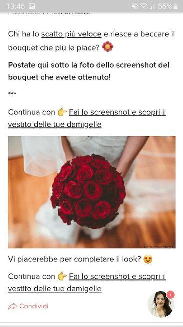 Fai lo screenshot e scopri il tuo bouquet 30