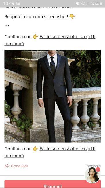 Fai lo screenshot e scopri il vestito dello sposo 30