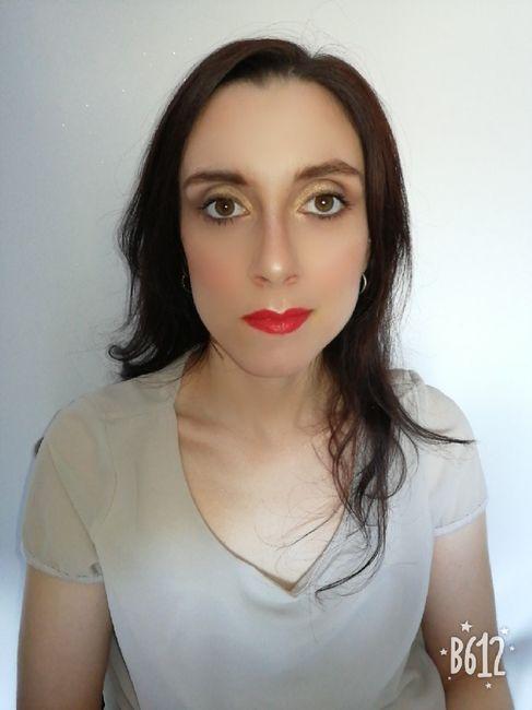 Make up con rossetto rosso? 1