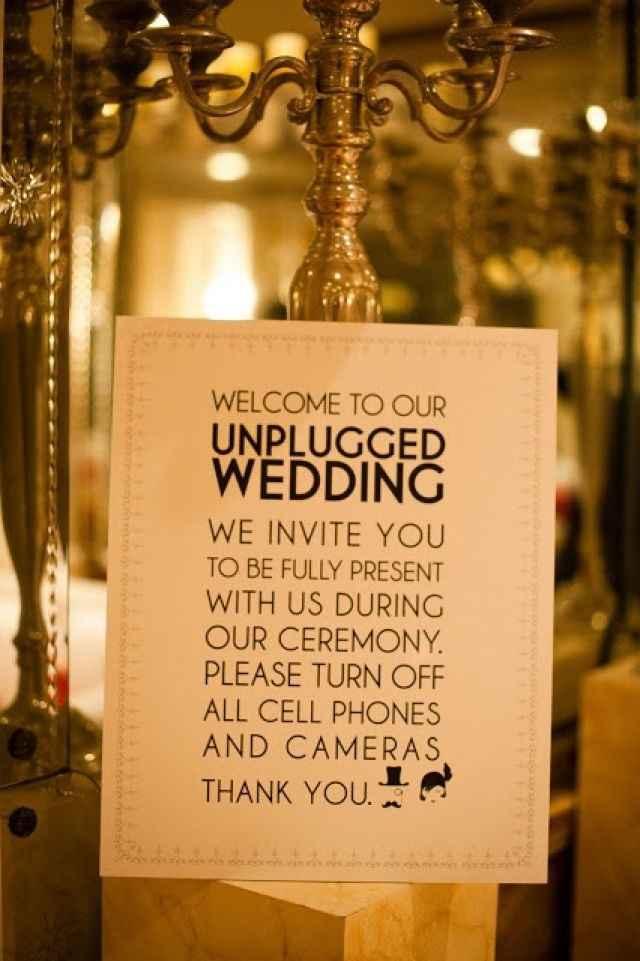 wedding unplugged