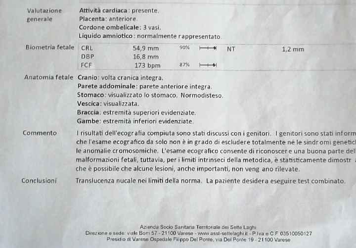 Traslucenza nucale - 1