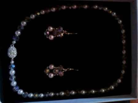 Collana con Orecchini con Perle di Swarousky