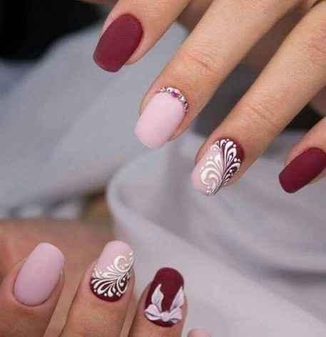 nail art rosa e rossa
