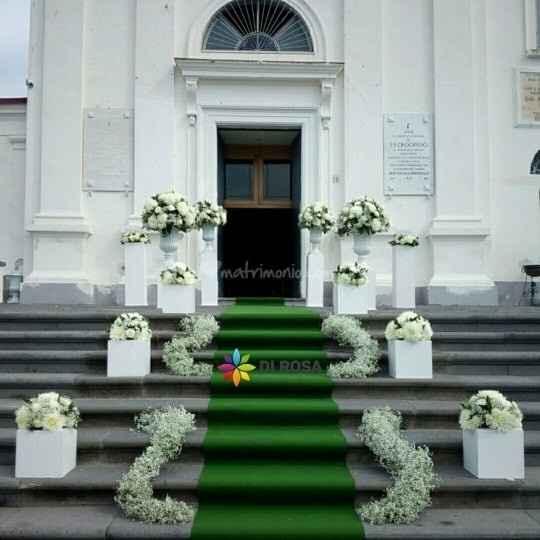Addobbi esterno chiesa - 4