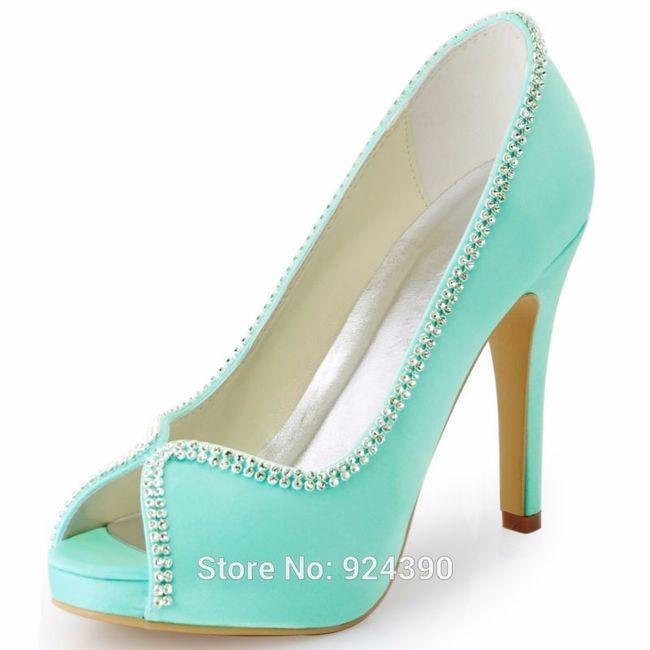 Scarpe Da Sposa Verde Tiffany.Scarpe Tacco Verde Acqua Moda Nozze Forum Matrimonio Com