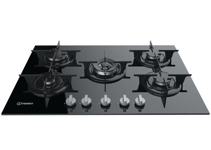 Piano cottura in vetro color nero 1