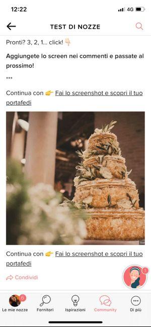 Fai lo screenshot e scopri la tua torta nuziale 15