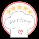 """Matrichef. Hai appena condiviso il menù delle tue nozze, congratulazioni! Un matrimonio a 5 stelle degno della cucina di un vero chef. Sfoggia la medaglia edizione limitata """"Matrichef""""!"""