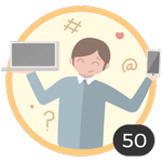 Nerd (50). Ti piace curiosare in tutti gli articoli e sbirciare tutte le nostre idee e consigli. Ti sei guadagnato questa medaglia perché hai già commentato 50 articoli.