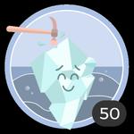 Rompighiaccio (50). Rompere il ghiaccio non è semplice, però non ci hai pensato due volte e, per ben 50 volte, hai commentato un topic  per prima. Meriti questa medaglia.