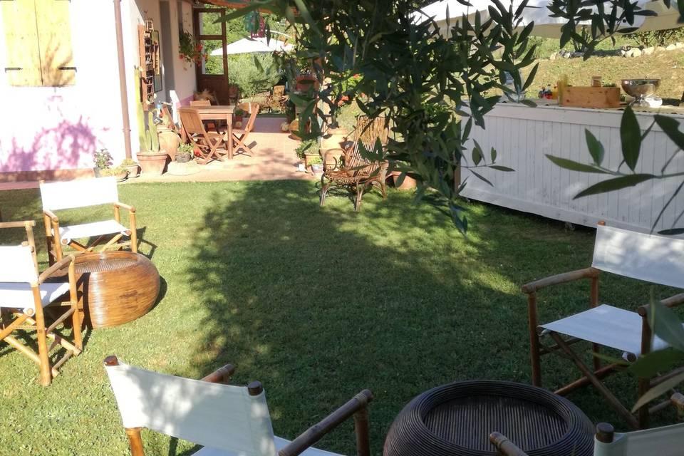 Porticato e giardino