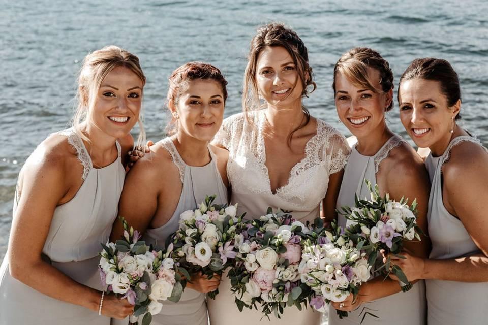 Bellagio Wedding Hairstyle & Make Up