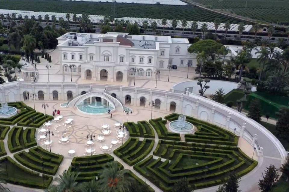 Foto aerea Reggia dei Tessali