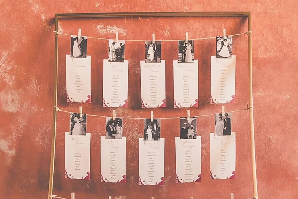 Cartoncini tableau de mariage