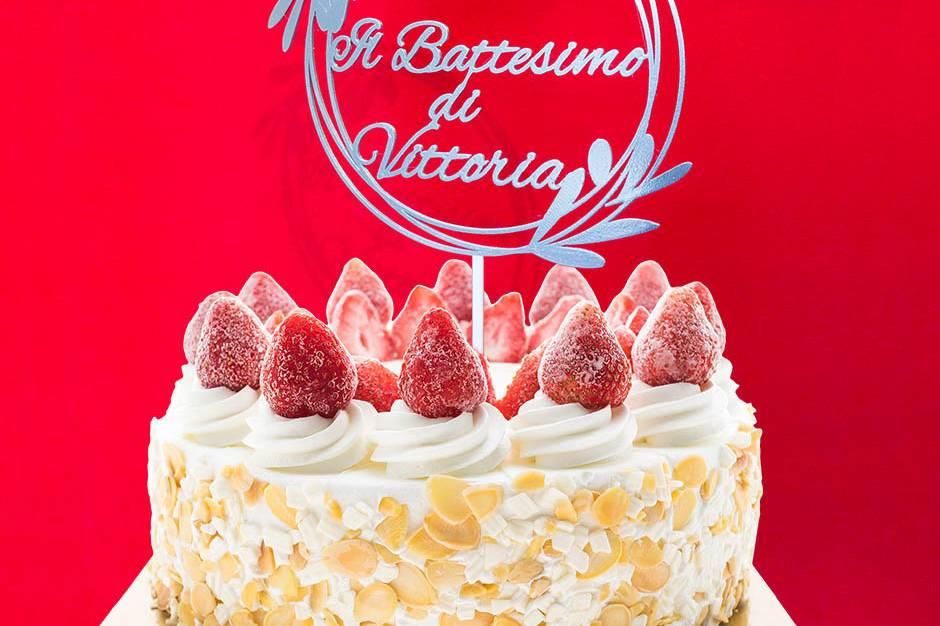Topper Cake Battesimo ULIVO