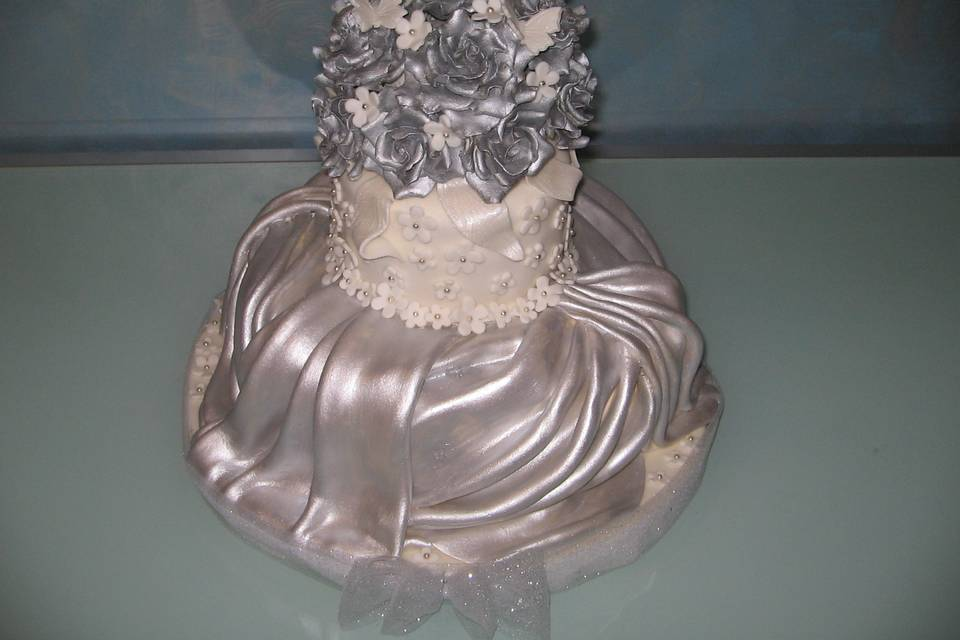 Wedding cake argento