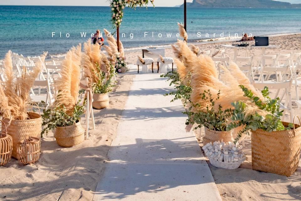 Cerimonia spiaggia Pampas Cagl