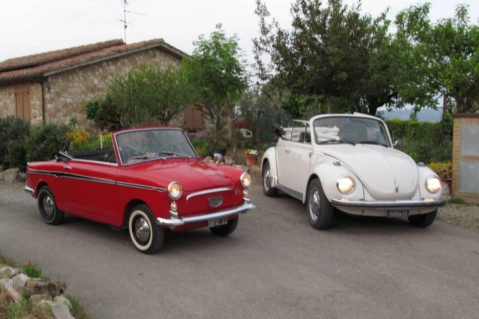 Noleggio Bianchina 1965 e Maggiolone 1973
