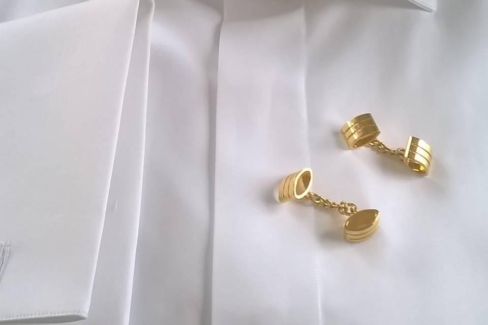 Camicia Bianca  polsini doppi