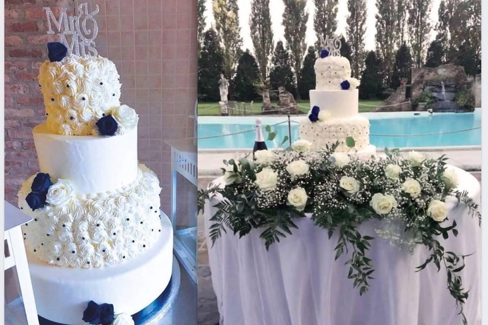 Wedding cake crema reale