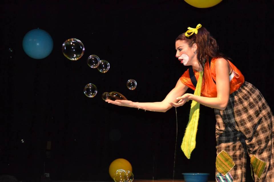 Spettacolo di bolle di sapone