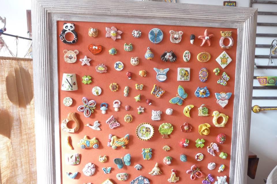 Varie bomboniere ceramica