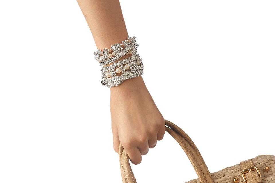 Bracciale argento/perle vere.