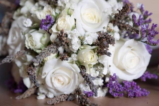 Bouquet rose e lavanda
