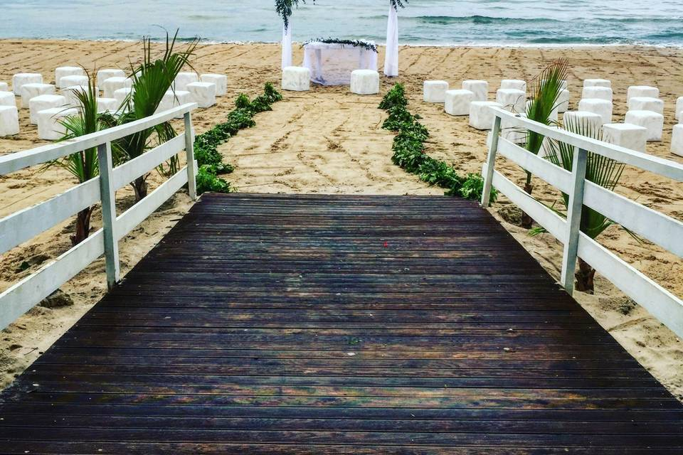 Beach Wedding Green