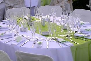 Allestimento Tavola Matrimonio green