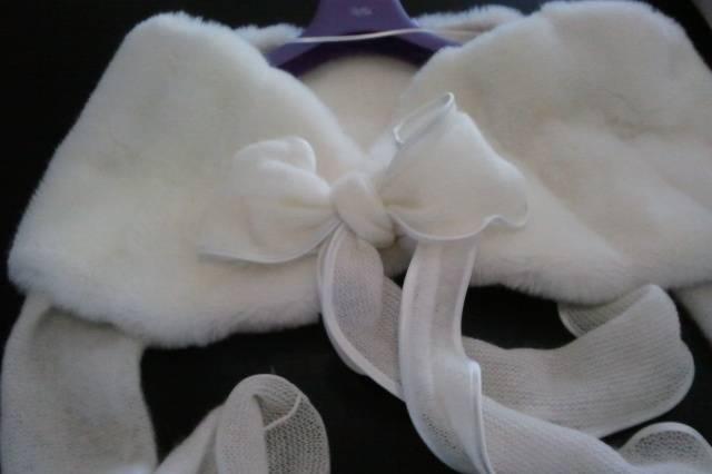 Pelliccia eco maniche lana
