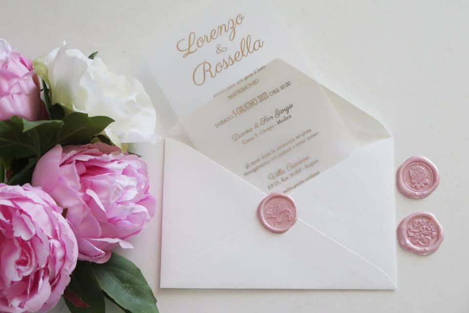 Invito rose gold ceralacca