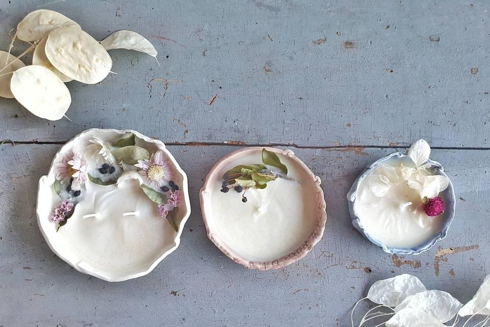 Candela in ceramica