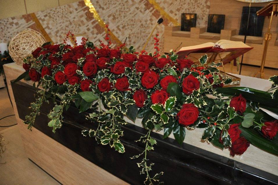 Rose rosse winter