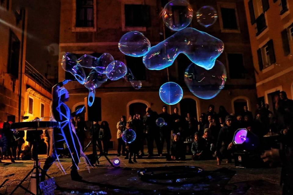 Blowing Bubbles Show