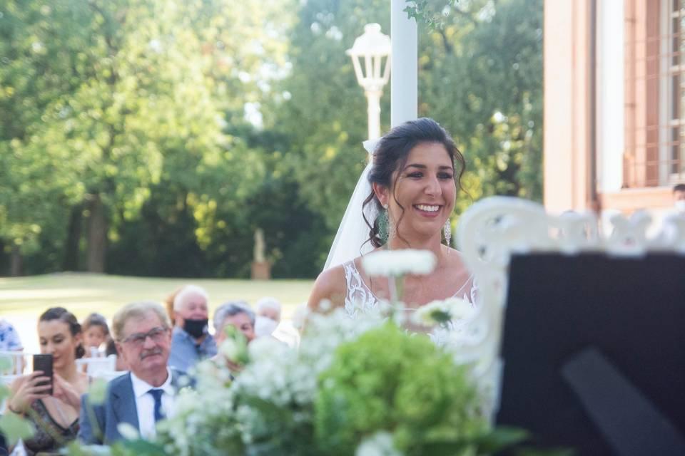 La sposa, il suo sorriso