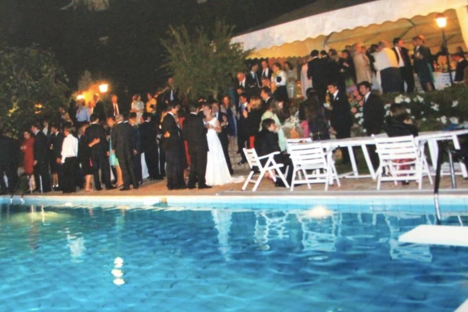La piscina la sera